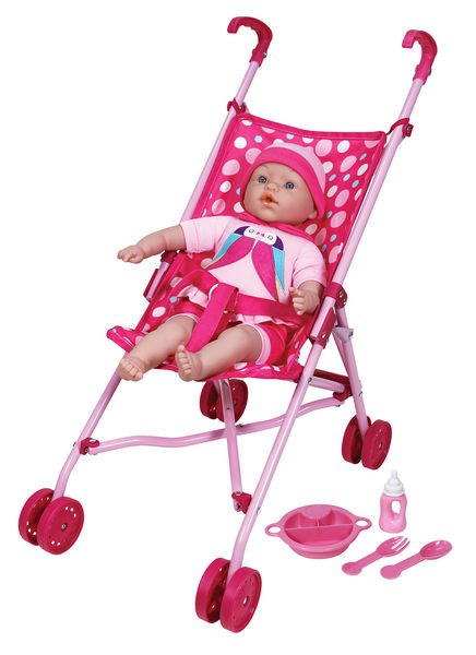 Lissi Stroller Set with 16 Doll