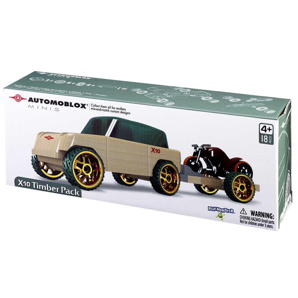 Automoblox X10 Timber Pack w/ Cycle and Trailer