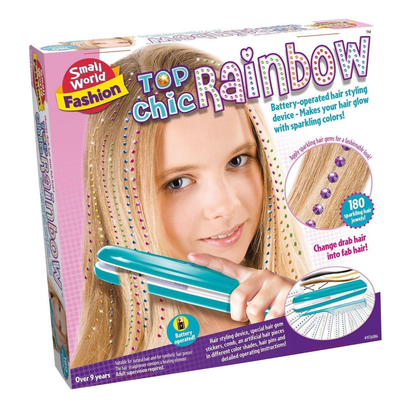 Small World Top Chic Rainbow Hair Play Set