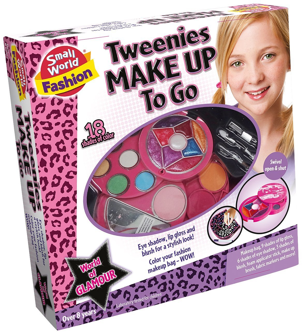 Small World Toys Fashion World of Glamour Children's Make Up Set for Tweens