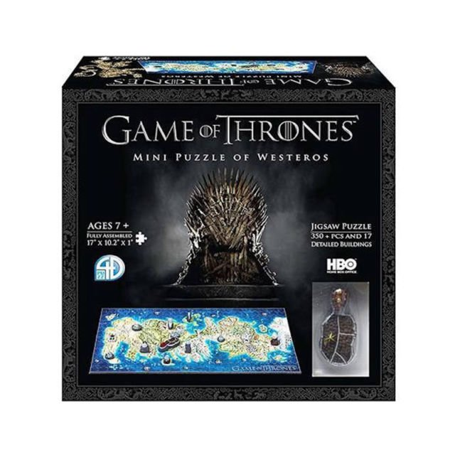 4D Cityscapes Mini Game of Thrones Westeros 350pc Jigsaw Puzzle