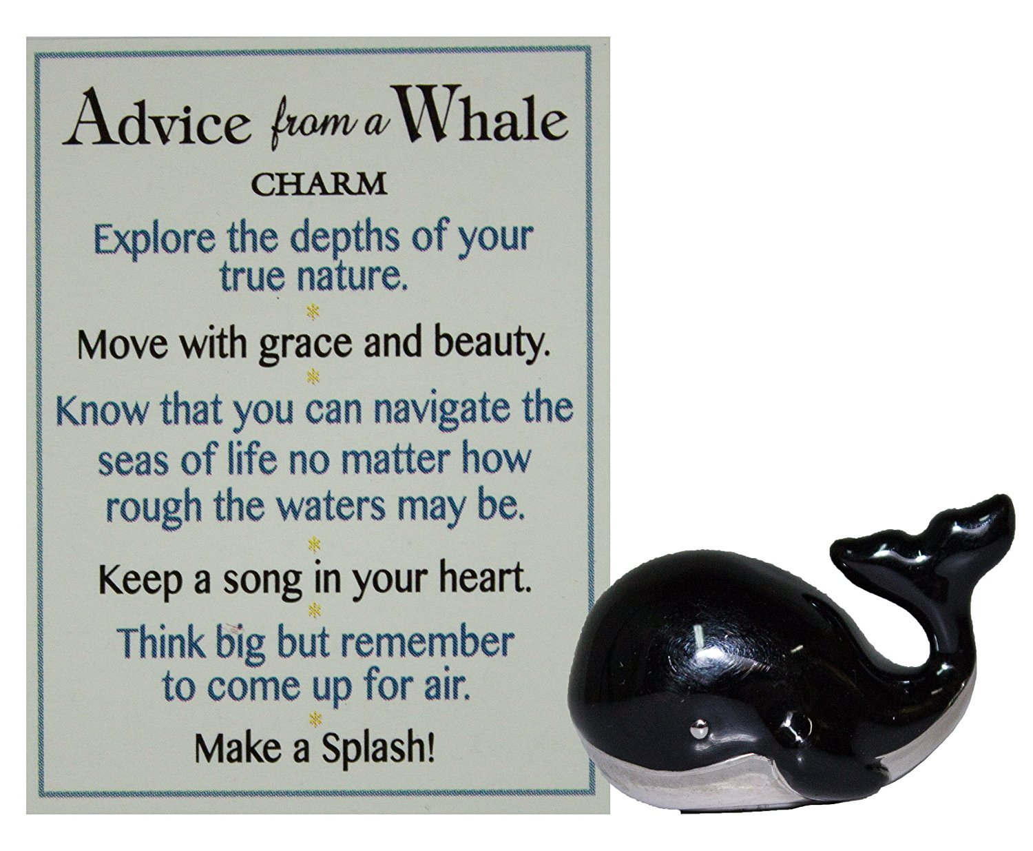 Ganz Advice From A Whale Charm with Story Card