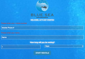 Blue Sea Adventures Rental Reservations