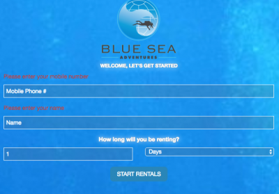 Blue Sea Adventures Rental Reservations