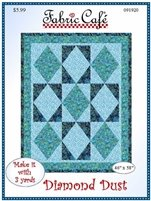 Fabric Cafe - 3 yard quilt pattern - Diamond Dust - 091920