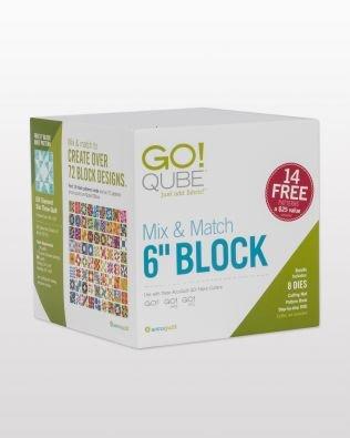 Accuquilt GO! Qube Mix & Match  6 block 55775