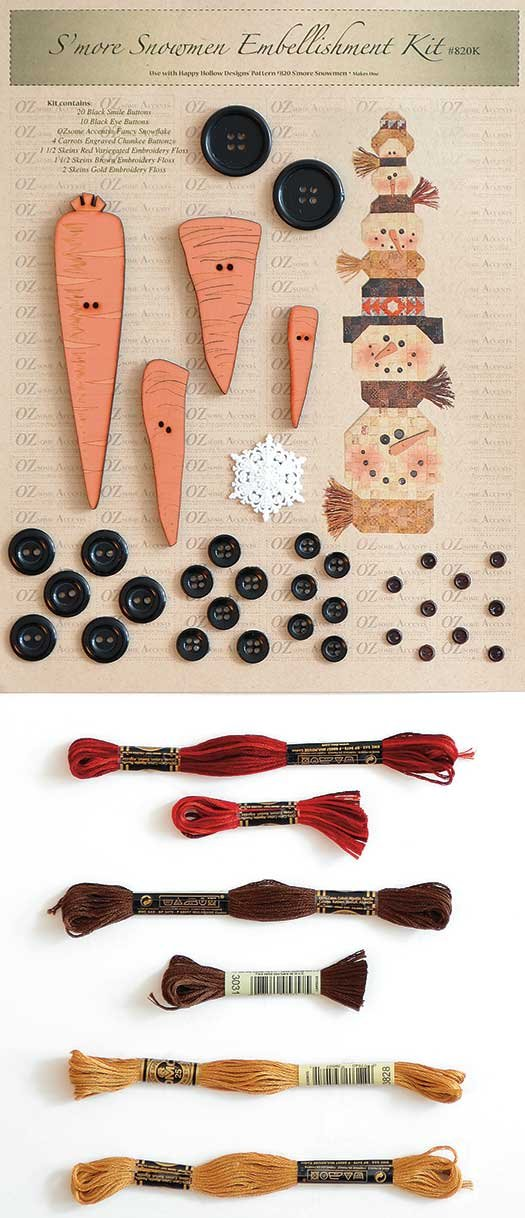 S?more Snowmen Embellishment Kit