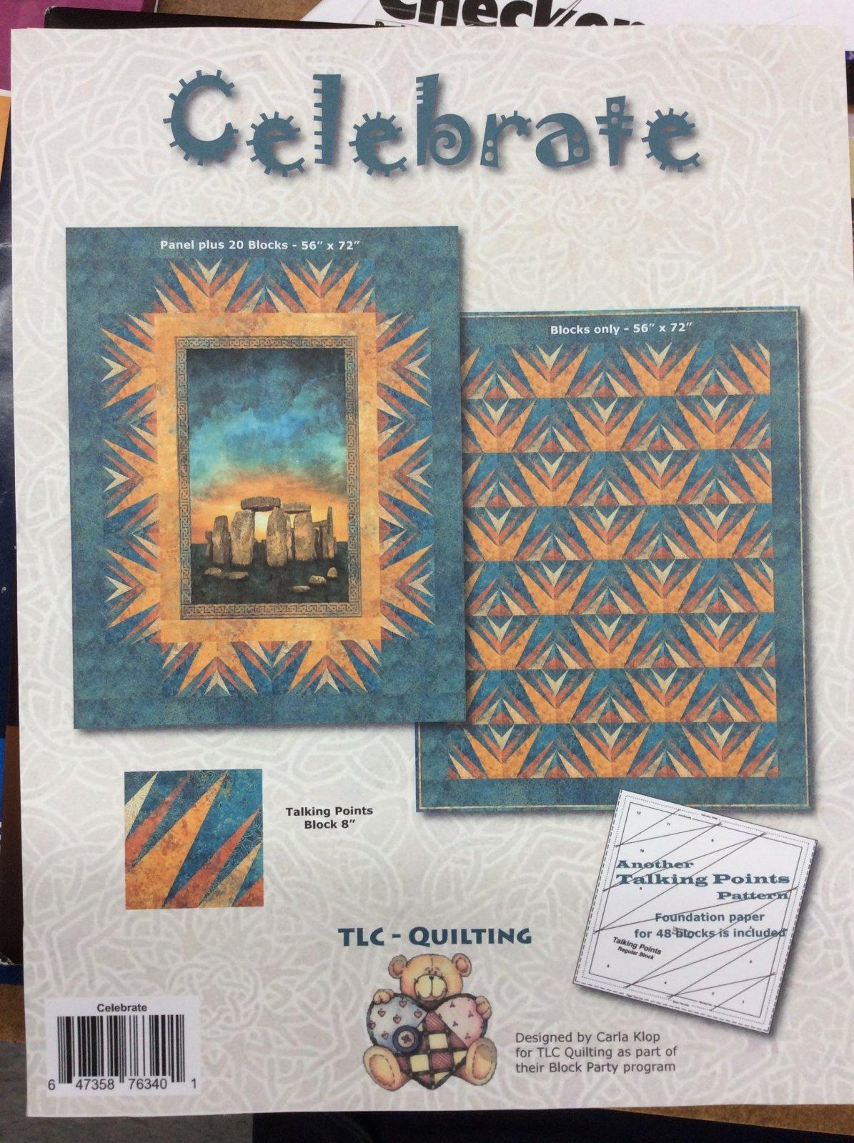 Carla Klop Northcott Stonehenge - Celebrate Quilt Pattern