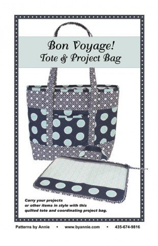 By Annie PBA234 Bon Voyage! Tote & Project Bag