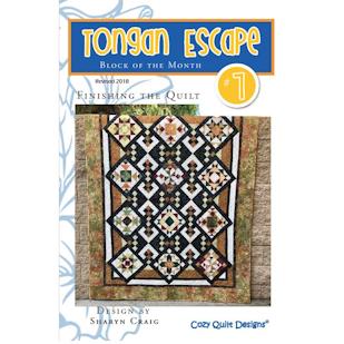 Cozy Quilt Designs Tongan Escape BOM (7) Pattern Kit