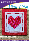 Cozy Quilt Designs - I (Heart) You Pattern CQD01186