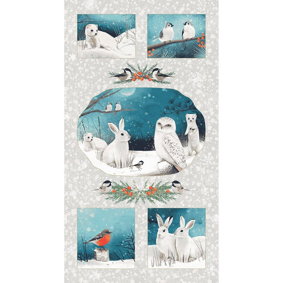 Clothworks - Winter Woodland  Panel -  Y2726-11