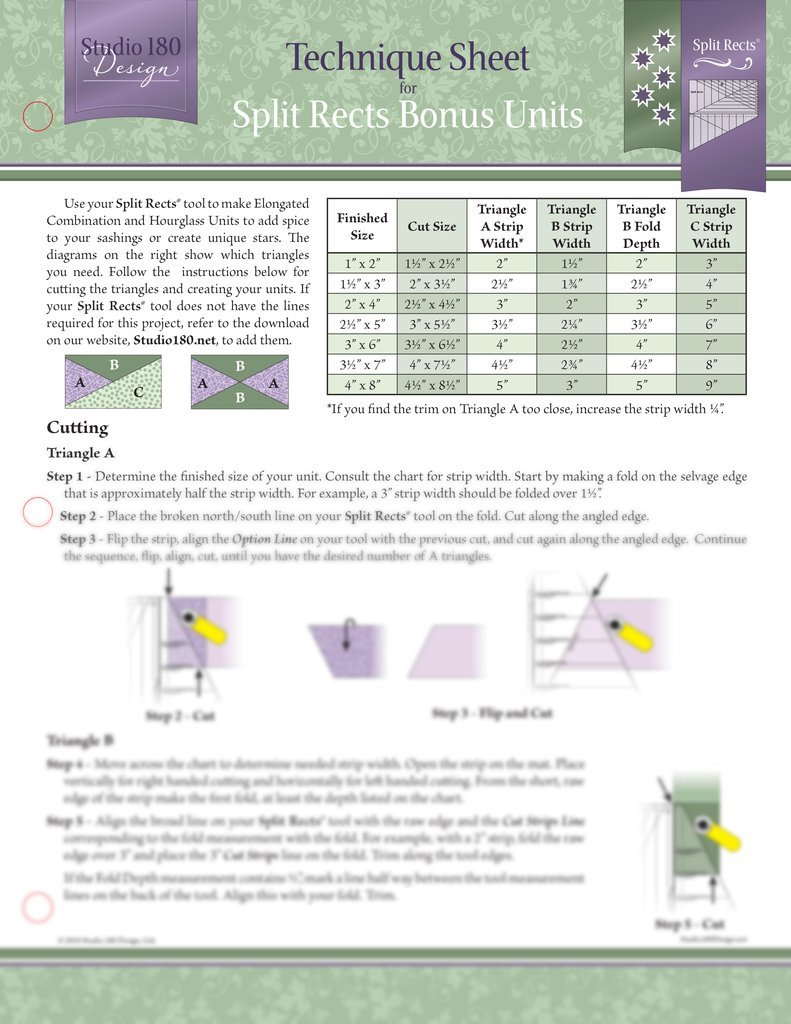 Tucker - Split Rects Bonus Units Technique Sheet DTEC22