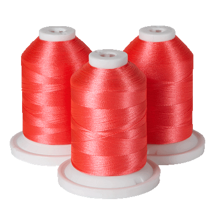 Brother Simplicity Pro 100% Polyester Color Fast, High Shine Embroidery Thread Neon Pink  ETP01011                                                   Shine Embroidery Thread  Dark Brown ETP01212