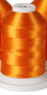 Brother Simplicity Pro 100% Polyester Color Fast, High Shine Embroidery Thread Orange Peel ETP0112
