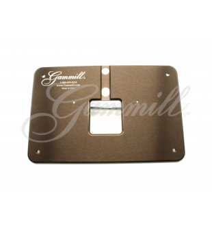 Gammill Ruler Base Throat Plate Plate - for 18-8 AC-ETP/18 2 Oil Holes fits Premier 18