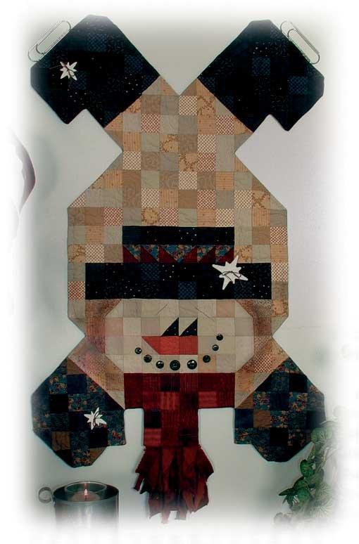 Happy Hollow Designs - Tumbling Skating Snowman Table Runner 578