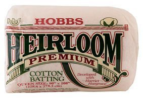 Hobbs Heirloon Batting Premium 80% cotton 20% polyester 120 x 120- package