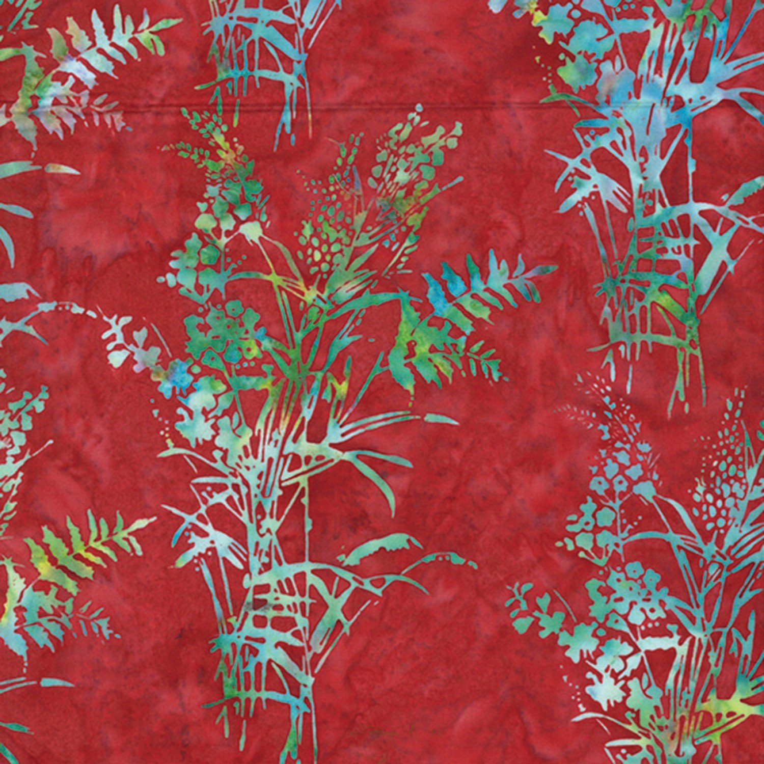 Hoffman Bali Batik Bouquet Red Q2199-5