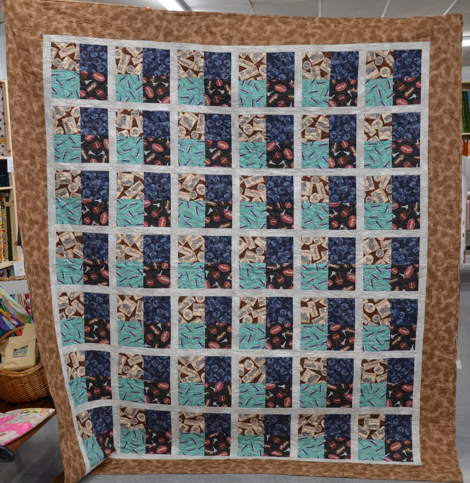 Indian Motorcycle Quilt 85 x 96