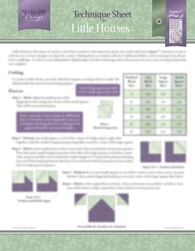 Tucker - Little Houses Technique Sheet DTEC03