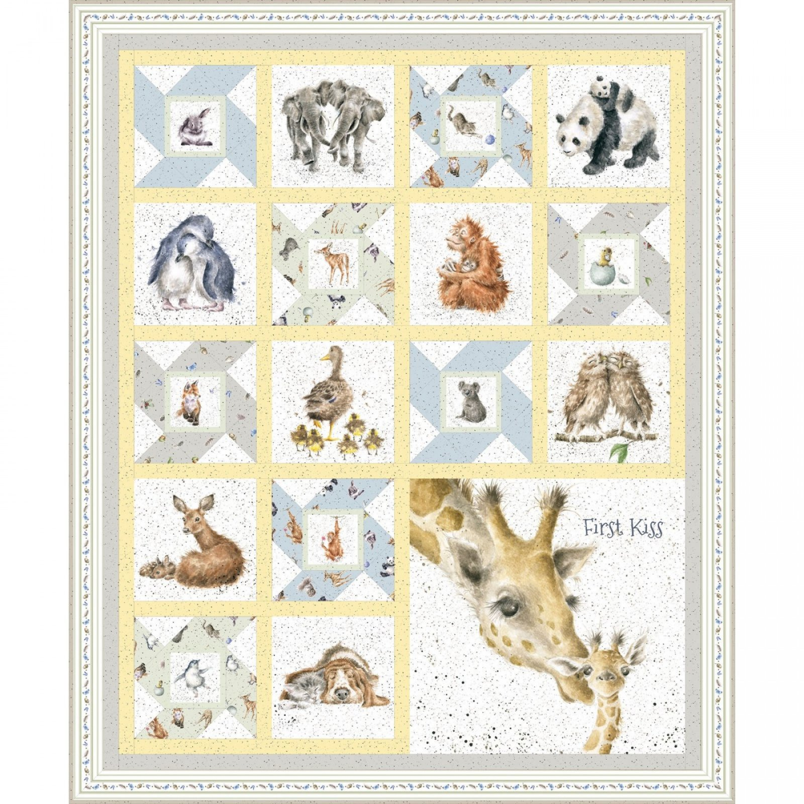 Maywood Studio First Kiss Quilt Kit Kit-MASFIK
