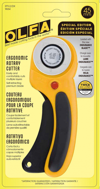 OLFA 45mm Ergonomic Rotary Cutter RTY-2/DX