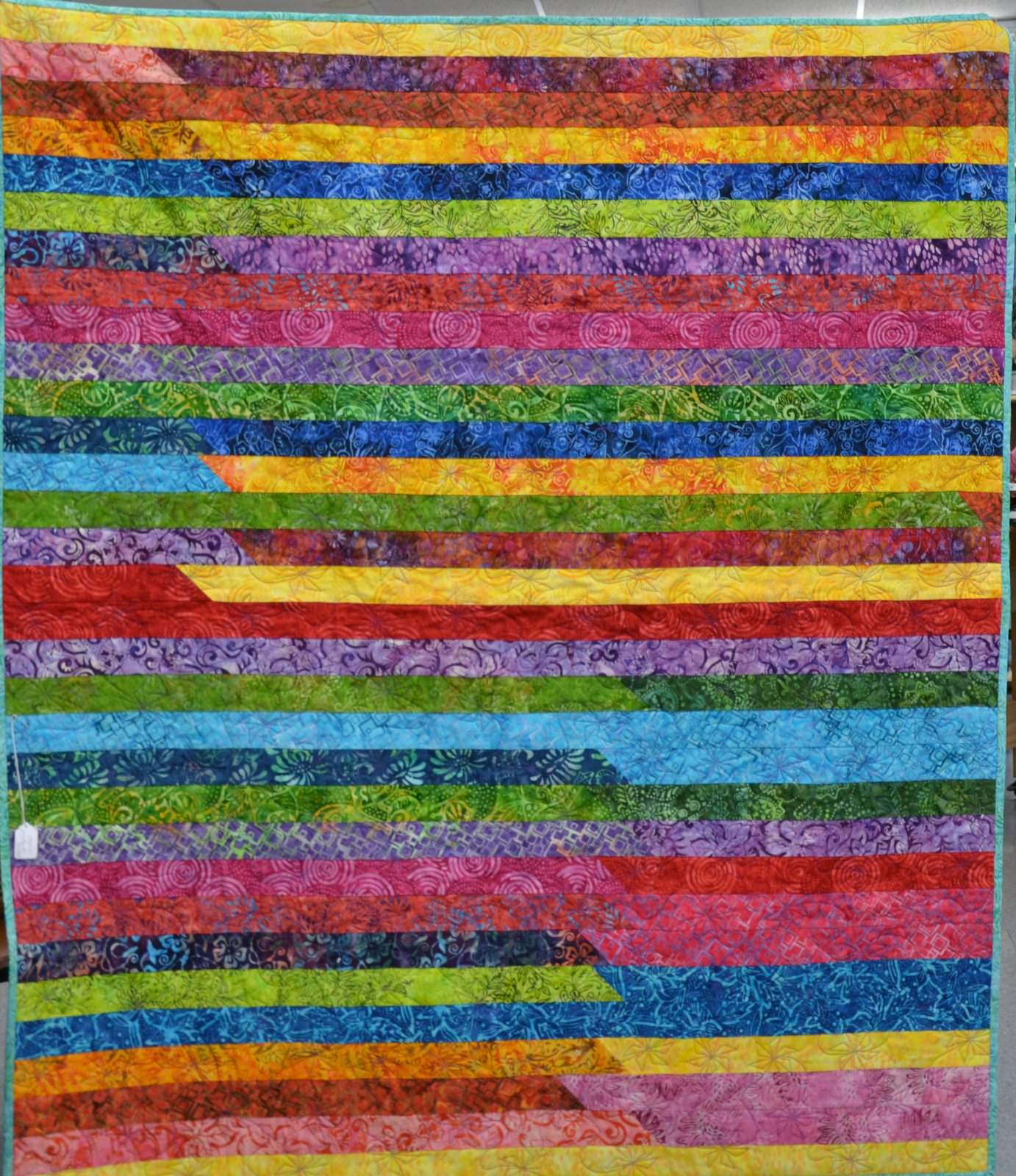 Batik Jelly Roll Quilt 51 x 60