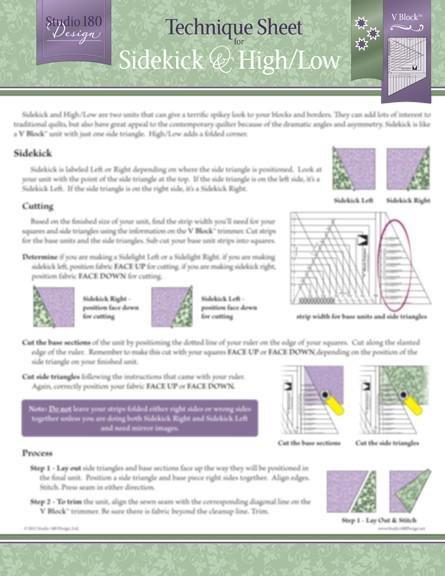 Tucker University Technique Sheet - Sidekick & High/Low DTEC05