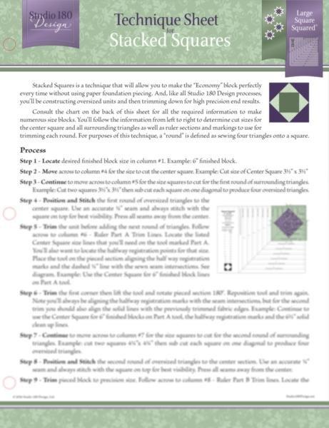 Tucker University Technique Sheet - Stacked Squares DTEC13