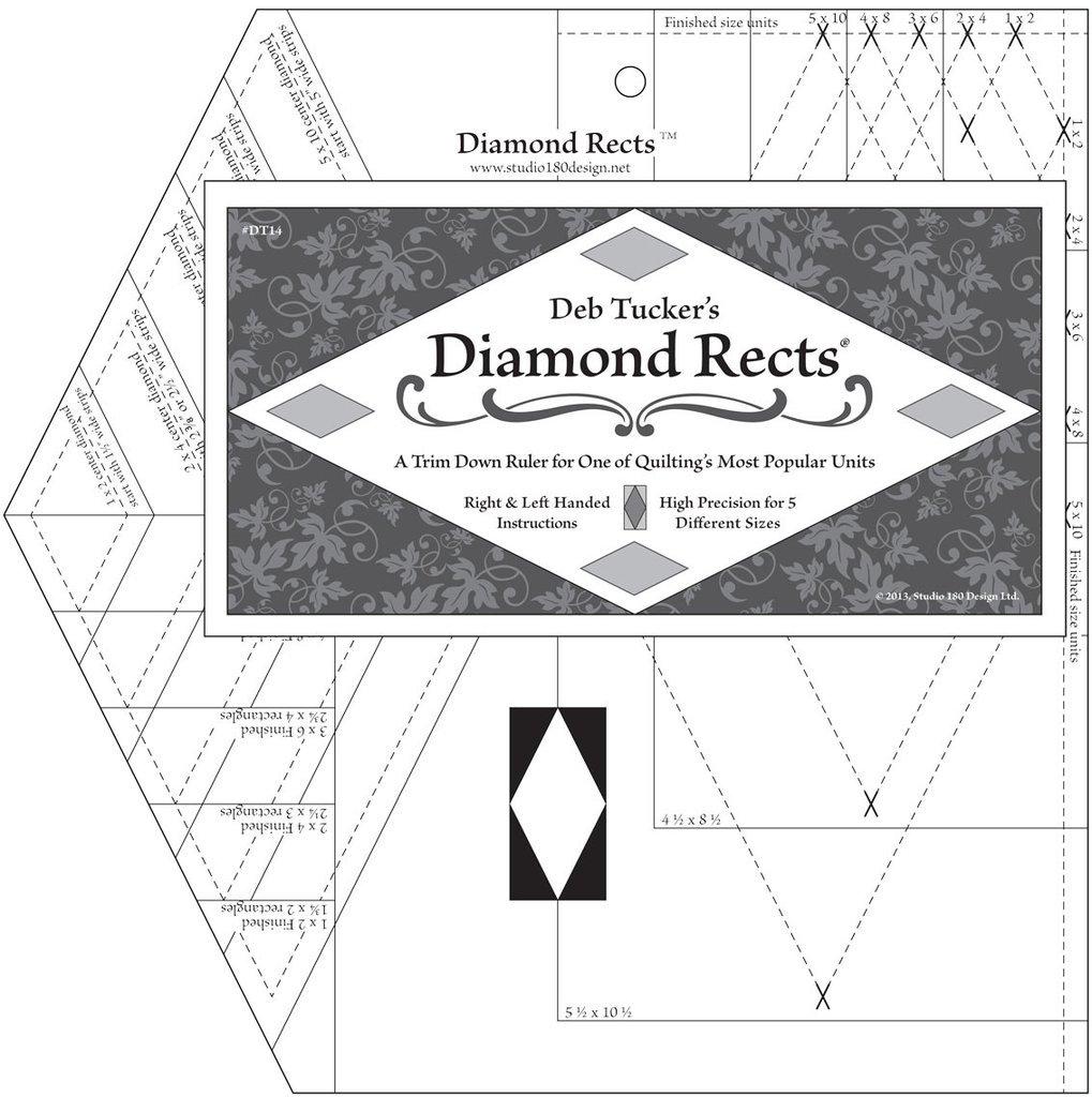 Tucker Diamond Rects ruler DT15