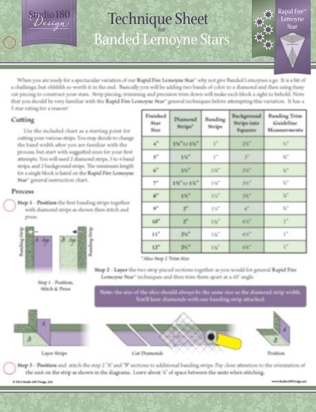 Tucker University Technique Sheet - Banded Lemoyne Stars DTEC10