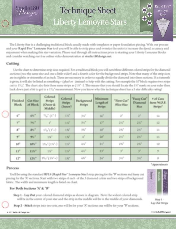 Tucker University Technique Sheet - Liberty Lemoyne Stars DTEC11