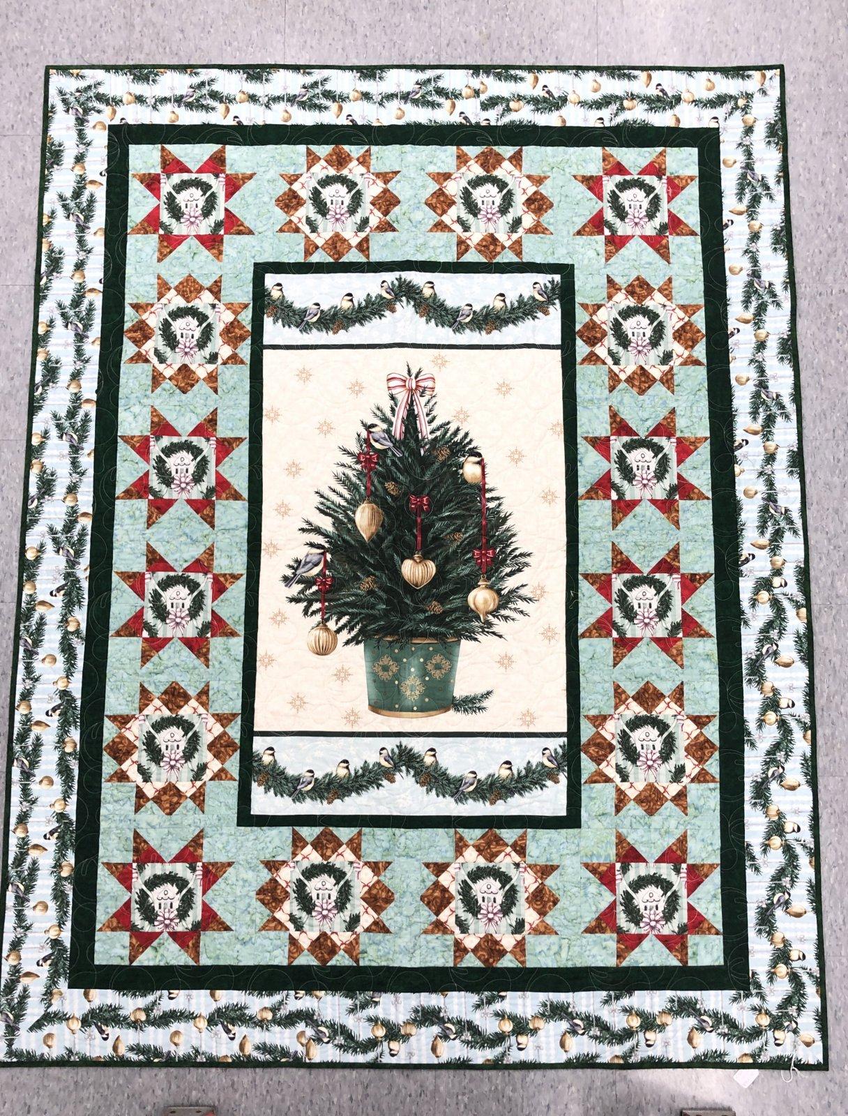 Xmas Tree Quilt 56 - 1/2 x 74