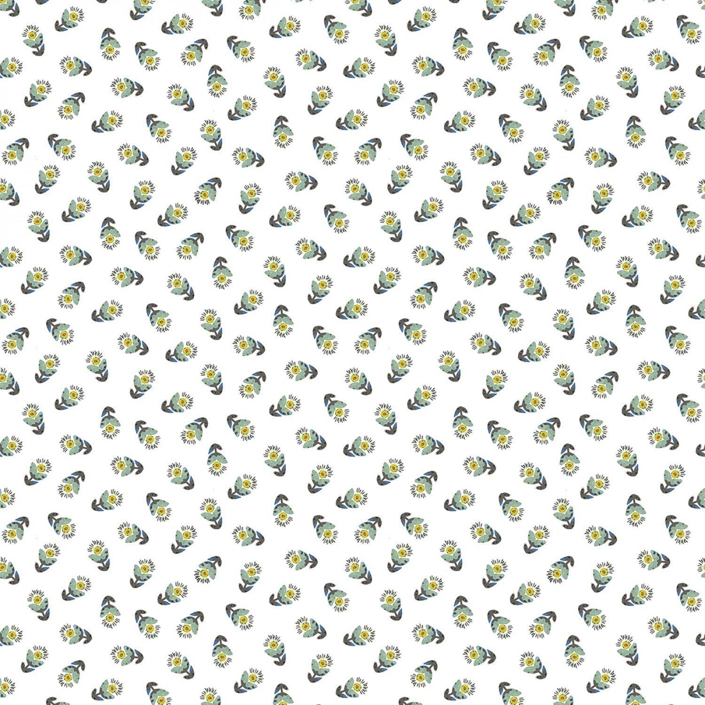 Benartex Soulshine & Daydreams by Kelly Rae Roberts 10351 05 Teal Tossed Flowers $11.40/yd