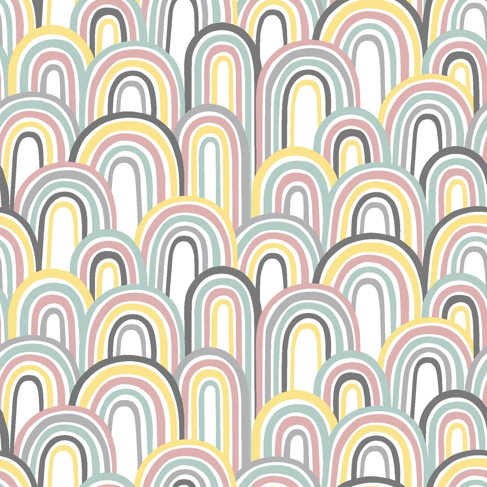 3 Wishes Small & Mighty FLANNEL by Angela Nickeas 17156 WHT Rainbows $6.99/yd
