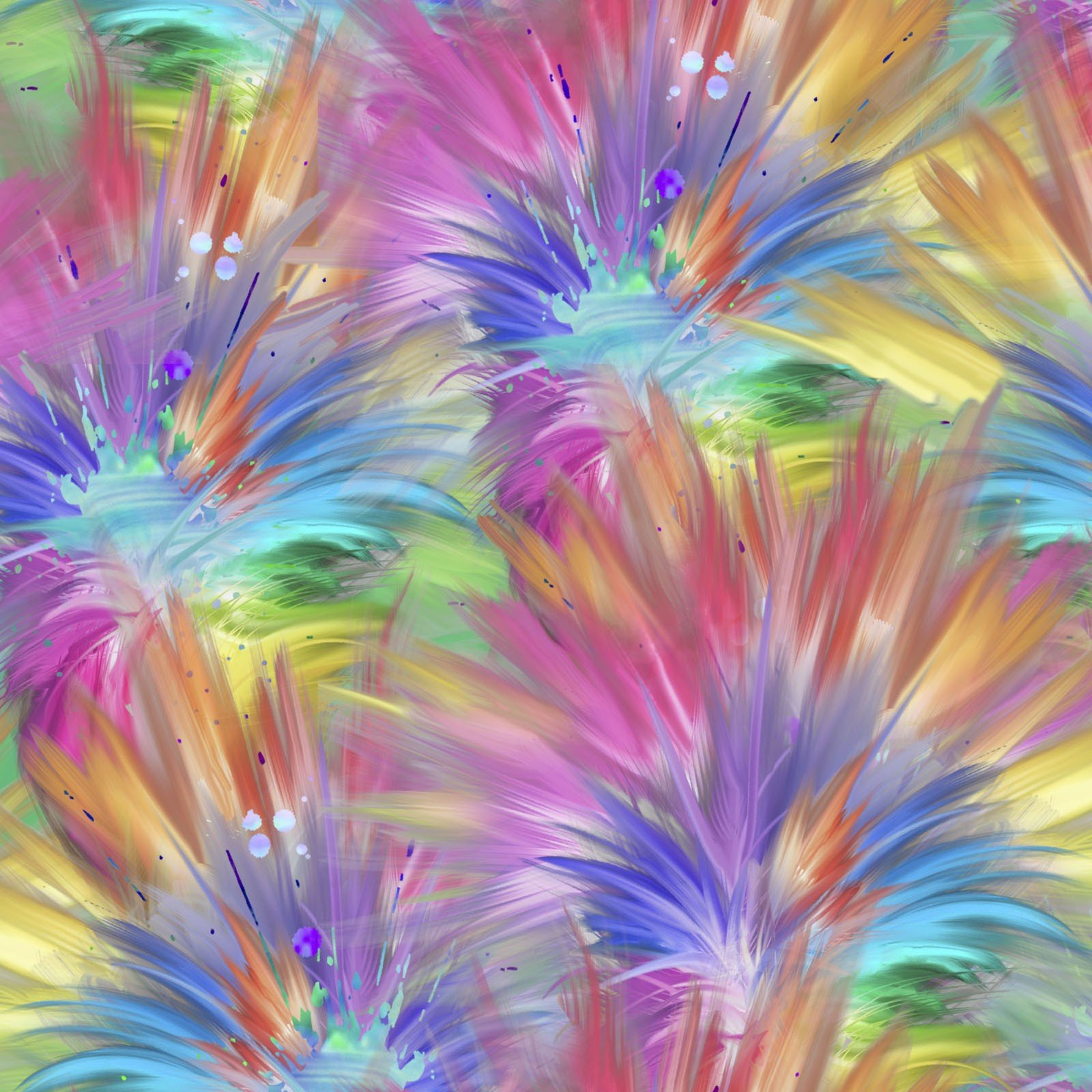 3 Wishes Party Animals 17316 MLT Plumes $12.20/yd