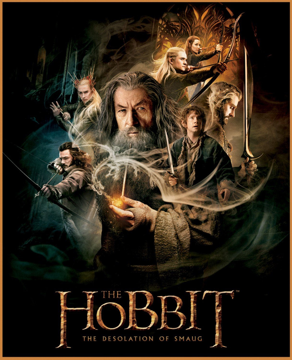 Camelot The Lord of the Rings & The Hobbit Digital 23210104JP 1 Hobbit Characters Panel $17.99/yd