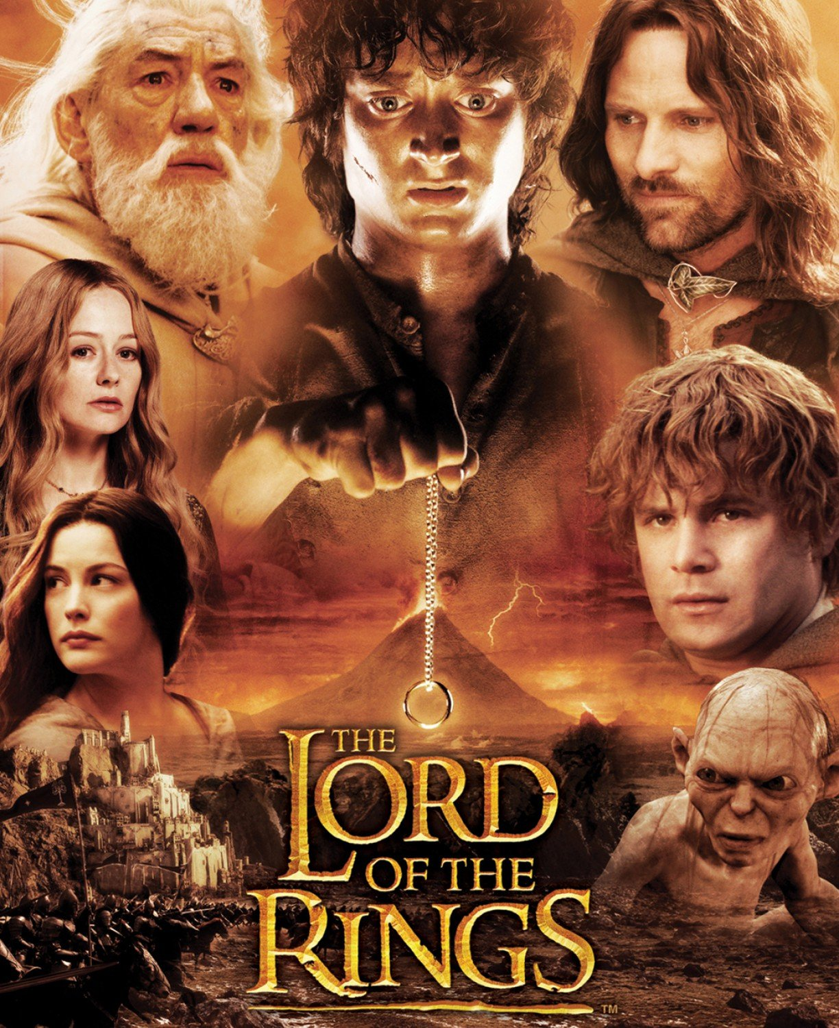 Camelot The Lord of the Rings & The Hobbit Digital 242000012JP 1 Lord of the Ring Character Panel $17.99/yd