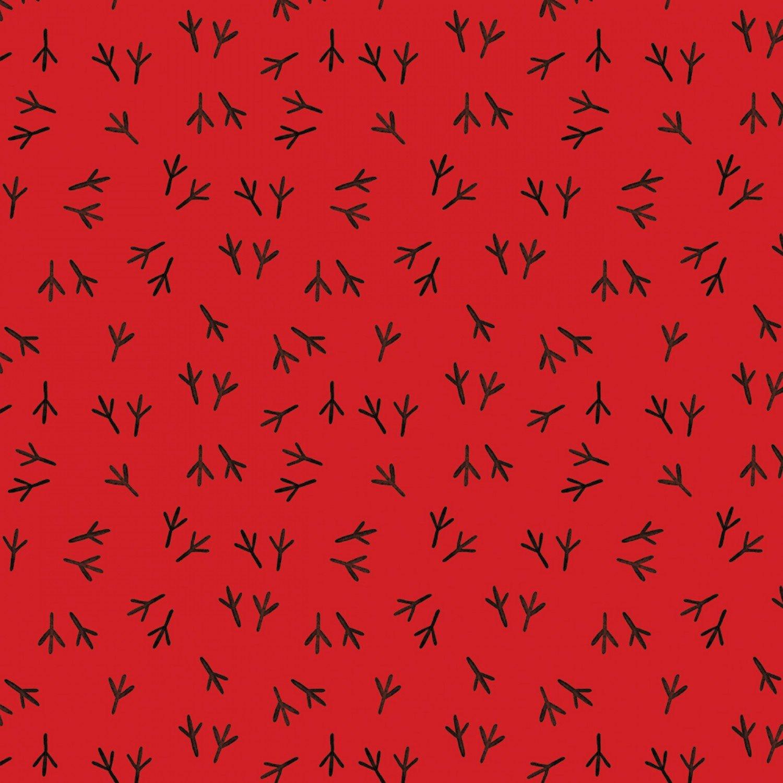 Camelot Conservatory - Digital by Sarah Berrenson 26180303J 1 Red Tracks $11.50/yd