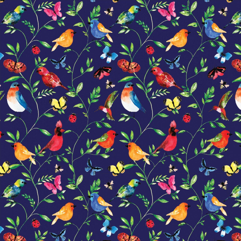 Camelot Conservatory - Digital by Sarah Berrenson 26180307J 1 Blue Botanical $11.50/yd