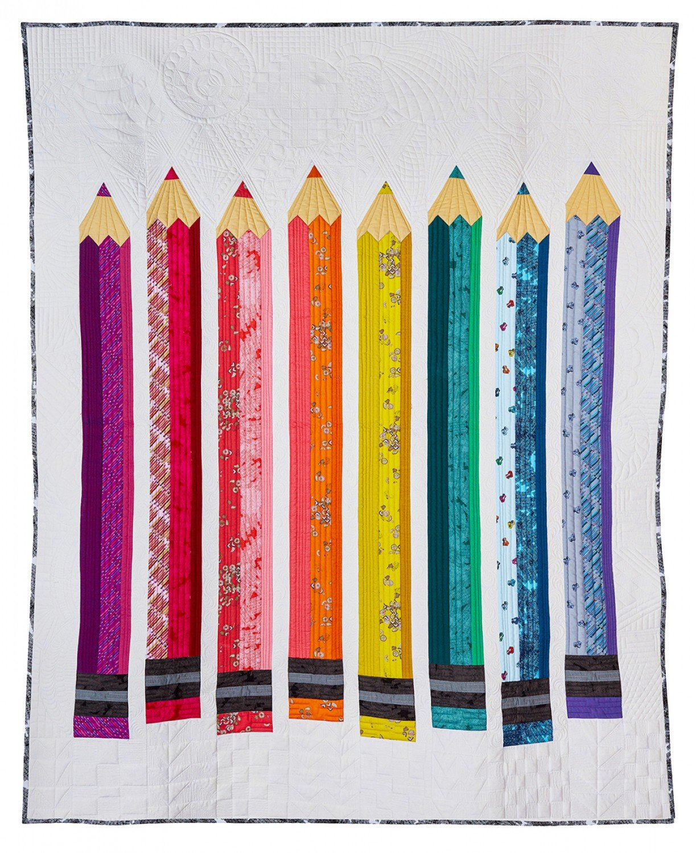 Windham Fabrics Pencil Club by Heather Givans 50783QK Pencil Club President Quilt Kit $193.00/per kit PREORDER DUE JAN/FEB '20
