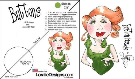 Loralie Buttonheads Button #036 7/8 size (12 Buttons) $9.99/per package
