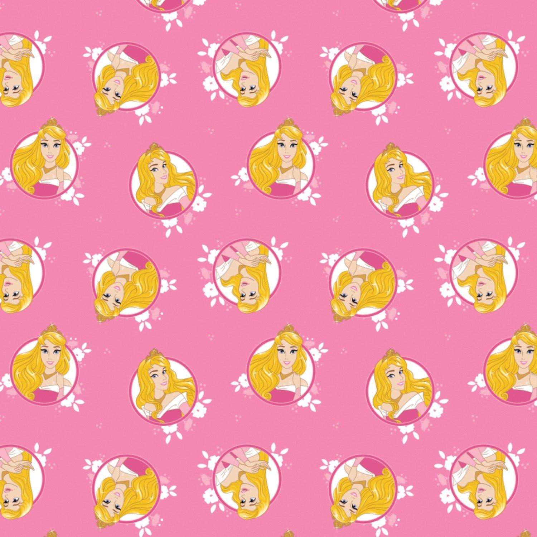 Camelot Disney Princess Forever 85100507 1 Pink Aurora Badges $11.50/yd