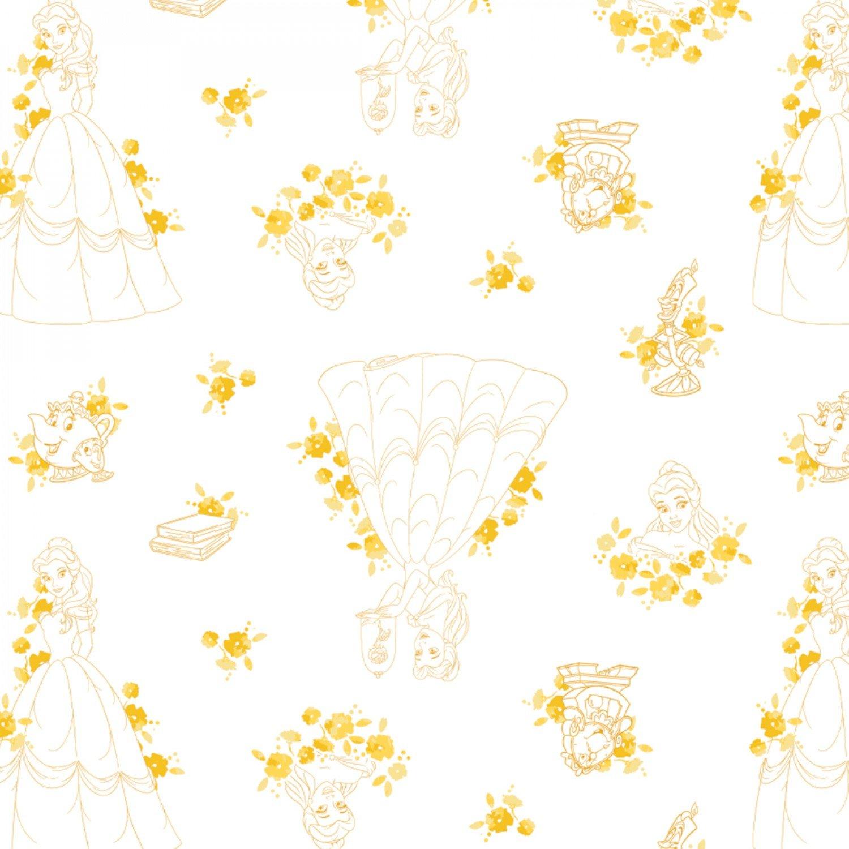 Camelot Disney Princess Forever 85100514 1 Gold Belle Toile $11.50/yd