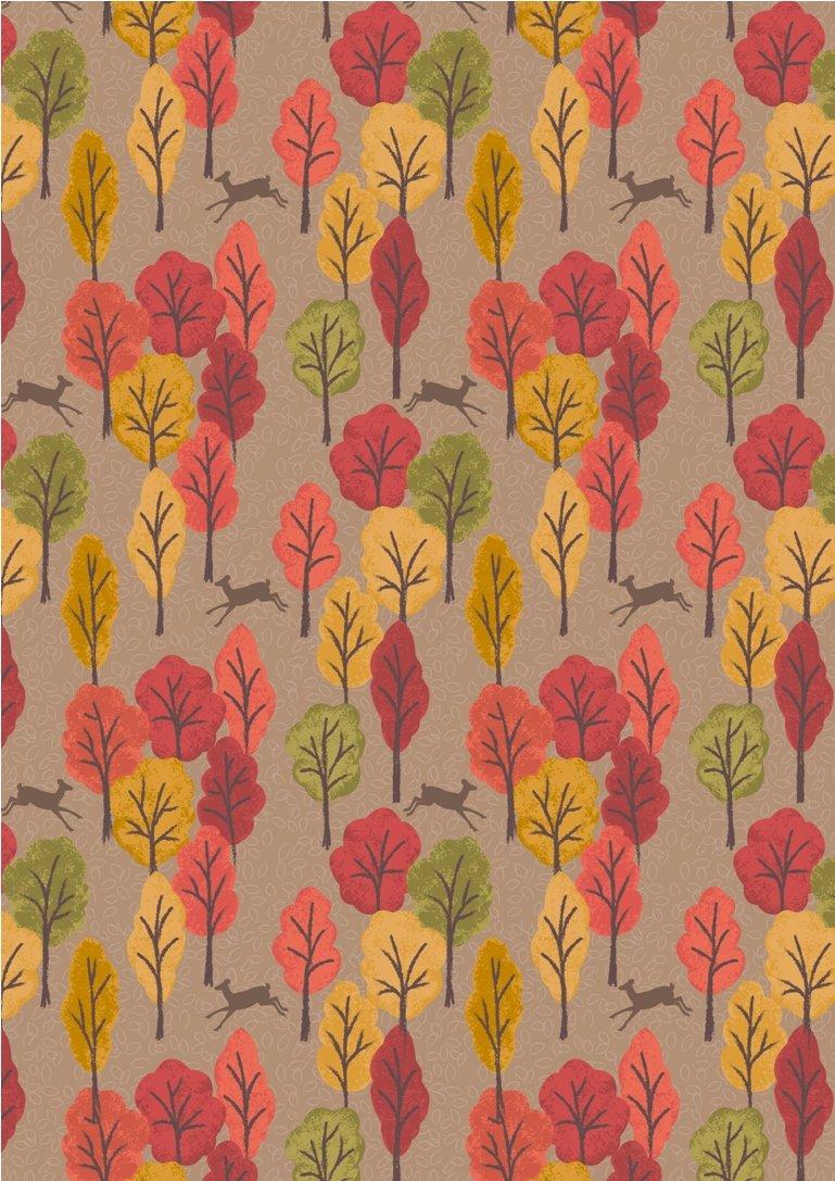 Lewis & Irene Autumn in Bluebell Wood - A250 2 Lt Brown Leeping Deer $9.99/yd