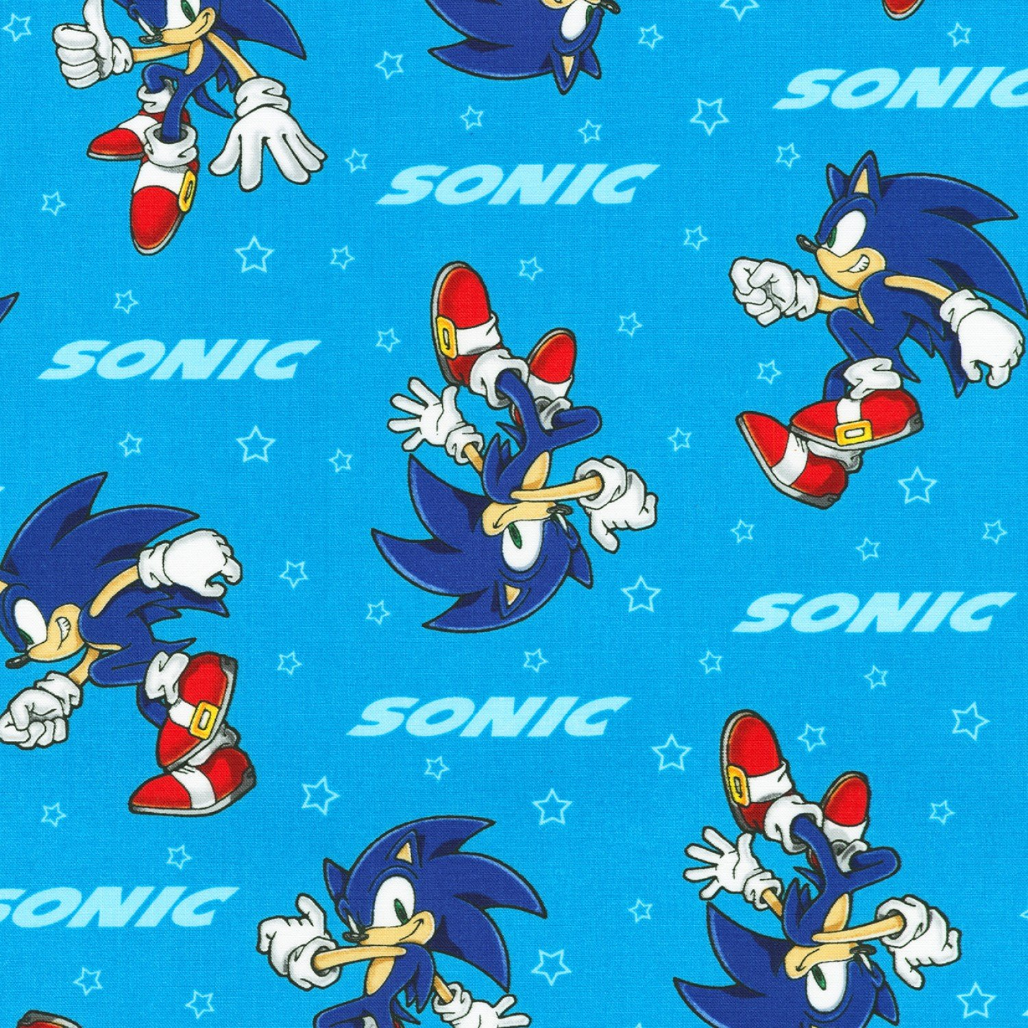 Robert Kaufman Sonic The Hedgehog Axx 73950 4 Blue Sonic Toss 10 30 Yd Sold Out More Coming