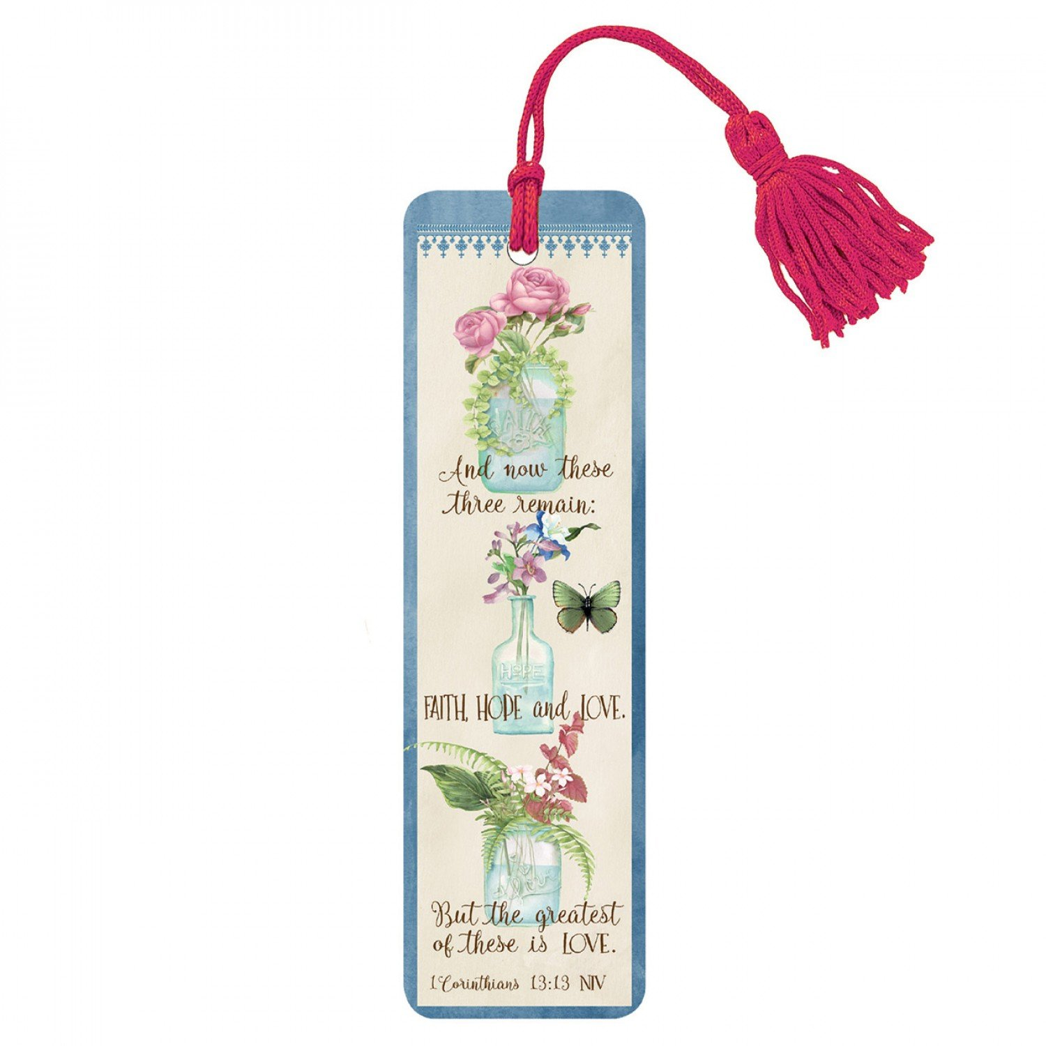 It Takes Two Bookmark With Tassel BK126 Faith Hope & Love $1.99/each