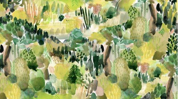 Dear Stella Woodland Fairytale by August Wren DAW 1450 Multi Into the Woods $11.30/yd