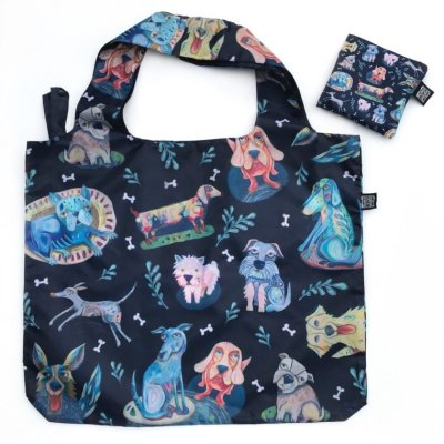 Allen Designs NEW! DOG HOUSE FABRIC BAG / SHOPPING TOTE FB202 $12.95